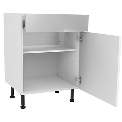 Image for Simply Hygena Chesham - White - 600mm Standard Drawer Line Base Unit from StoreName