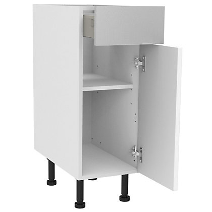 Image for Simply Hygena Chesham - White - 300mm Premium Drawer Line Base Unit from StoreName