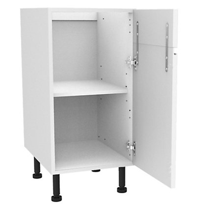 Image for Simply Hygena Kensal - Gloss White - 400mm Dummy Drawer Line Base Unit from StoreName