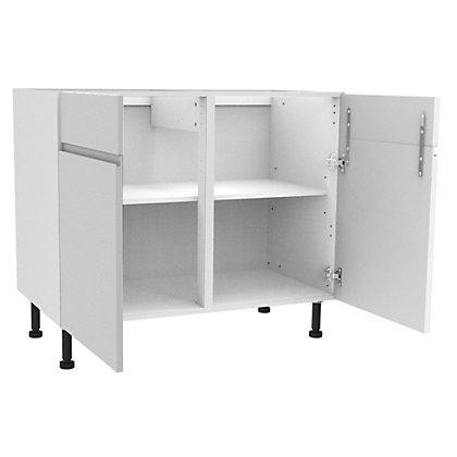 Image for Simply Hygena Kensal - Gloss White - 1000mm Dummy Drawer Line Base Unit from StoreName