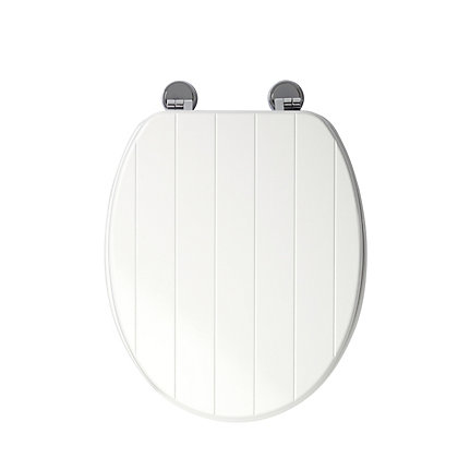 Image for Croydex New England White Sit Tight Toilet Seat - Antibacterial from StoreName