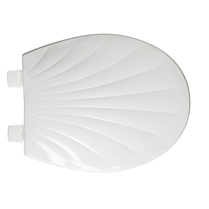 Image for Scallop Shell White Toilet Seat from StoreName