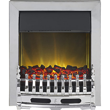Image for Adam Hertford Chrome Electric Inset Fire from StoreName