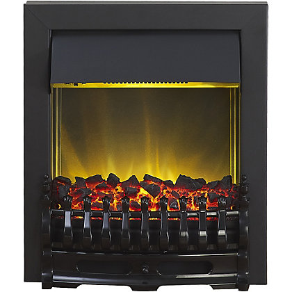 Image for Adam Hertford Black Electric Inset Fire from StoreName