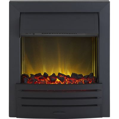 homebase adam eclipse black electric inset fire customer. Black Bedroom Furniture Sets. Home Design Ideas