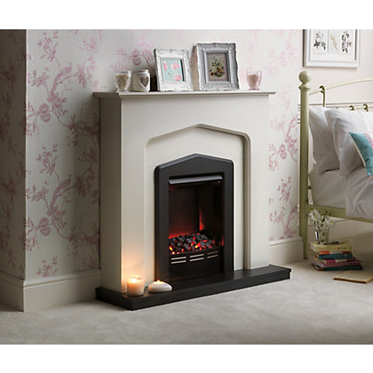 Image for Lamont Fire Suite with Anthracite Hearth - Soft White from StoreName