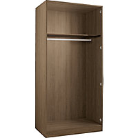 Hygena Double Wardrobe - Walnut