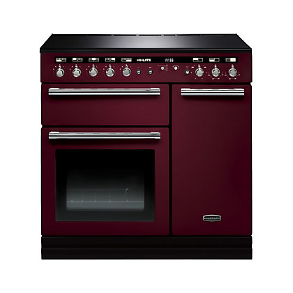 Image for Rangemaster 104420 HI LITE 90 Induction range cooker - Cranberry & Chrome. from StoreName