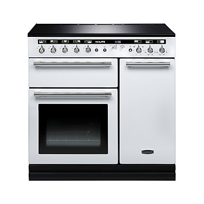 Image for Rangemaster 104460 Hi Lite 90cm Induction Range Cooker - White & Chrome from StoreName