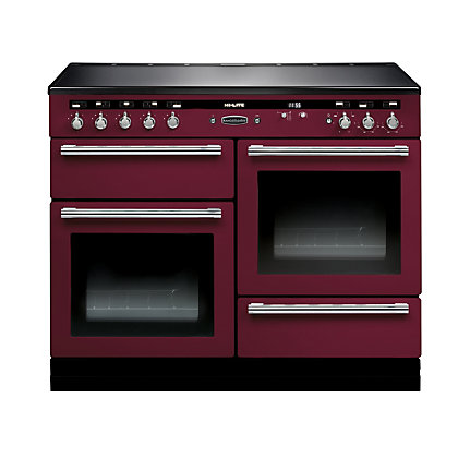 Image for Rangemaster 104490 Hi Lite 110cm Induction Range Cooker - Cranberry & Chrome from StoreName