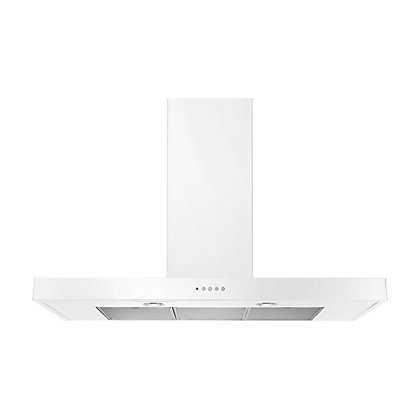 Image for Rangemaster 10528 100cm Flat Hood - White from StoreName
