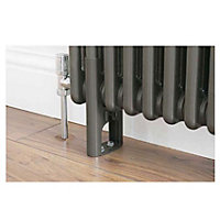 Colonna 3 Column Radiator Feet - Dark Silver