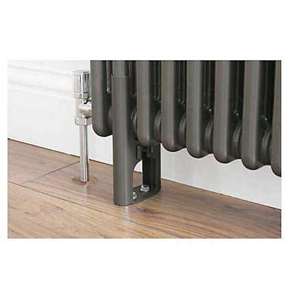 Image for Colonna 3 Column Radiator Feet - Dark Silver from StoreName