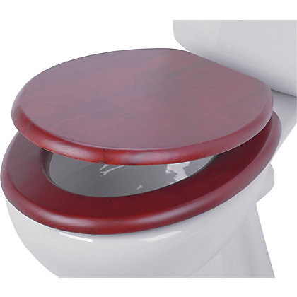 Image for Mahogany Effect Toilet Seat from StoreName