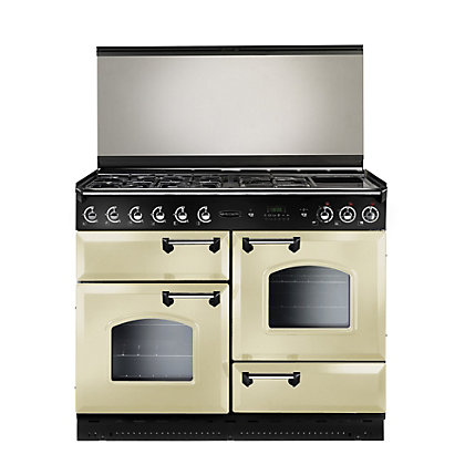 Image for Rangemaster Classic 110cm Lidded Dual Fuel Range Cooker - Cream from StoreName