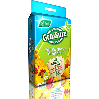 Image for Gro-Sure All Purpose Compost with 4 Months Feed - 10L from StoreName