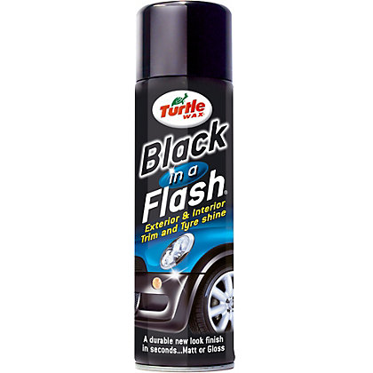 Image for Turtle Wax Black In a Flash Car Trim and Tyre Shine from StoreName