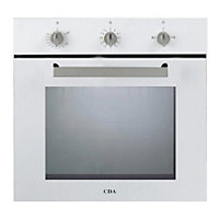 CDA Sg120Wh Single Fanned Gas Oven - White.