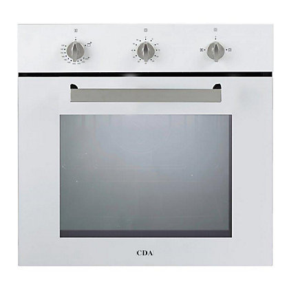 Image for CDA SG120WH Built-in Single Fanned Gas Oven - White from StoreName