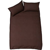 Duvet Cover Set - Chocolate - Kingsize