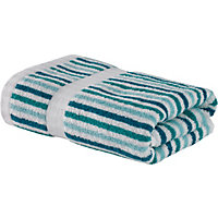 Stripe Hand Towel - Duck Egg