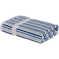 Stripe Face Cloth - Blue