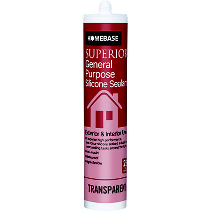 Image for Homebase Superior General Purpose Silicone Sealant - Translucent from StoreName
