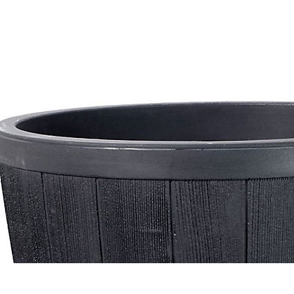 Image for Blenheim Plastic Half Barrel Planter from StoreName