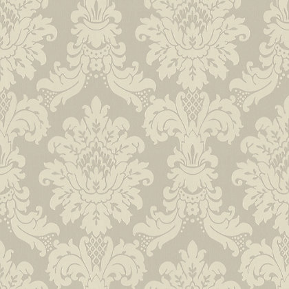 Image for Arthouse Vintage Messina Damask Wallpaper - Silver from StoreName