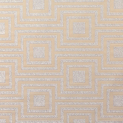 Image for Arthouse Vintage Modena Geometric Wallpaper - Silver from StoreName