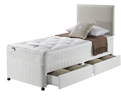Image of Silentnight Miracoil 3 Daisy Ortho 2 Drawer Single Divan - White