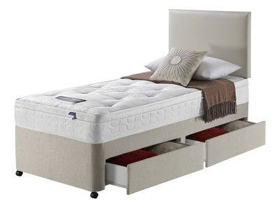 Image of Silentnight Miracoil 3 Daisy Ortho 2 Drawer Single Divan