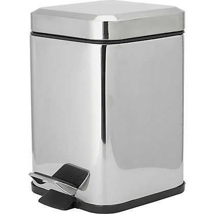 Image for Square Pedal Bin - Mirror Finish from StoreName