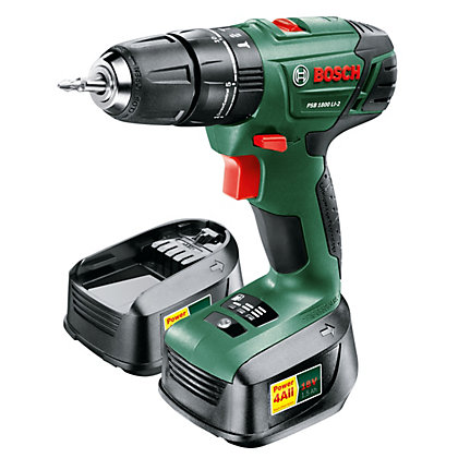 Image for Bosch PSB 1800 Li-2 Cordless Hammer Drill - 2 Batteries - 18V from StoreName