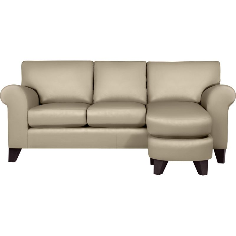 whittlebury chaise sofa taupe leather dark feet. Black Bedroom Furniture Sets. Home Design Ideas