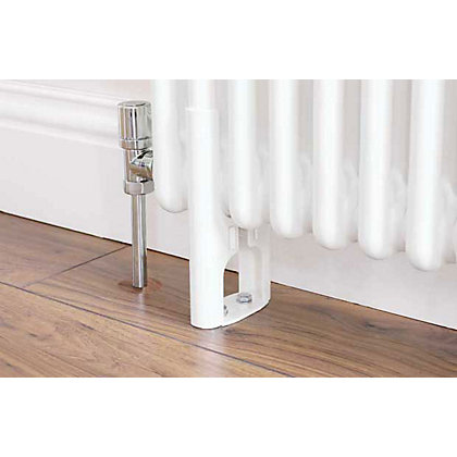 Image for Colonna 3 Column Radiator Feet - White from StoreName
