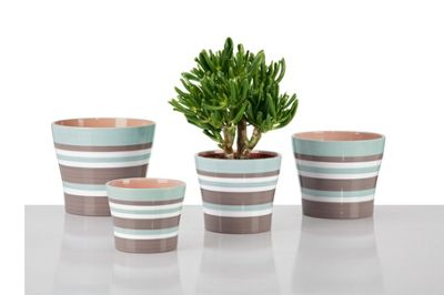 sesame ribbed indoor plant pot 28cm at homebase be. Black Bedroom Furniture Sets. Home Design Ideas