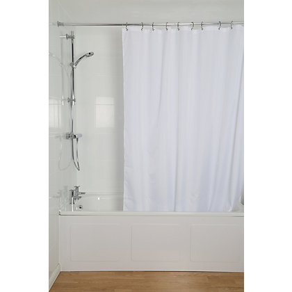 Image for Croydex High Performance Shower Curtain - White from StoreName