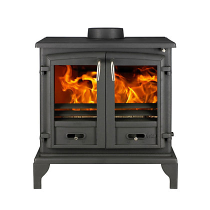 Image for Valor Baltimore Cast-Iron Multi-Fuel 12kW Stove from StoreName