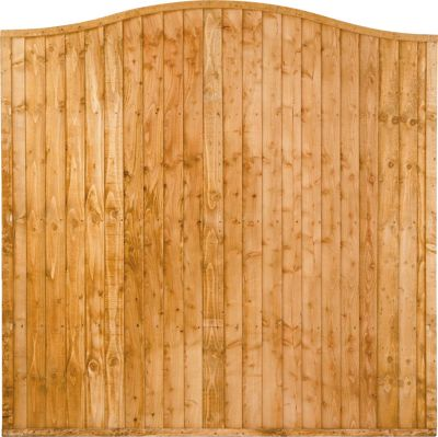 Forest Larchlap Closeboard Wave Fence Panel - Pack of  3
