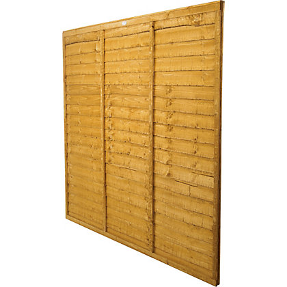 Image for Forest Larchlap Lap 1.2m Fence Panel  - Pack of 4 from StoreName