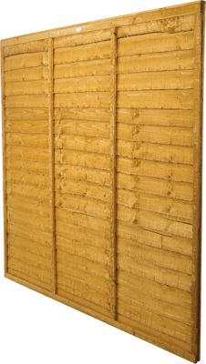Forest Larchlap Lap 1.2m Fence Panel  - Pack of 6