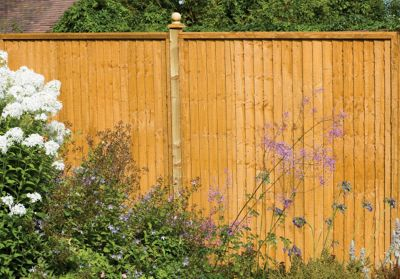 Forest Larchlap Closeboard 1.2m Fence Panel  - Pack of  3