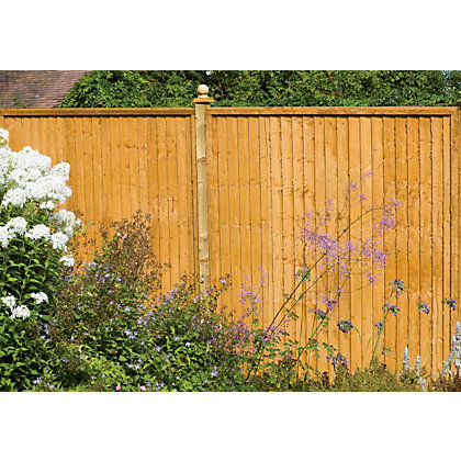 Image for Forest Larchlap Closeboard 1.5m Fence Panel  - Pack of  3 from StoreName