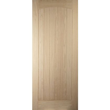 Image for Croft 6 Panel Oak Veneer External Door - 813mm Wide from StoreName