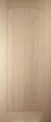 Image of Croft Panel Oak Veneer External Door - 838mm WIde