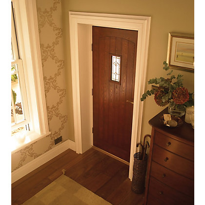 Image for Croft Triple Glazed Oak Veneer External Door - 838mm Wide from StoreName