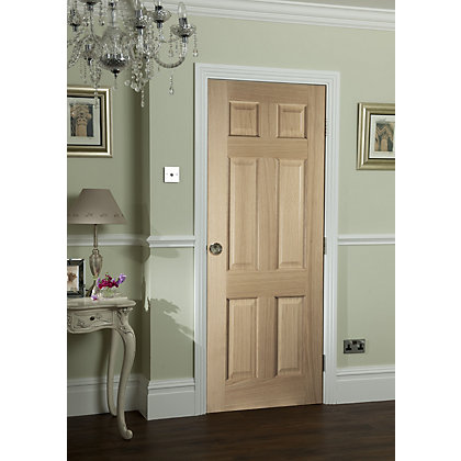 Image for 6 Panel Oak Veneer Internal Door - 762mm Wide from StoreName