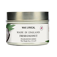 Fresh Coconut Fragranced Candle Tin