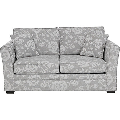 Floral Sofa Bed Malton Floral Sofa Bed Grey Natural At Homebase Be